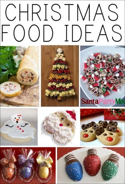 Christmas food ideas poster.