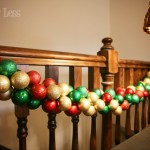 christmas ornament garland railing