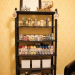 Organizational Overhaul: Painted Shelves for the Craft Room