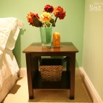 expresso end table guest room