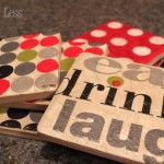 Handmade Tile Coasters from Party Napkins