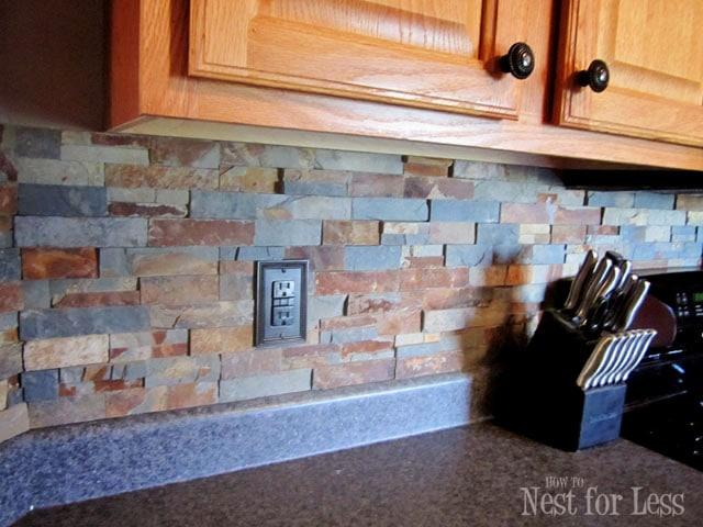 Outlet Stone Kitchen Backsplash