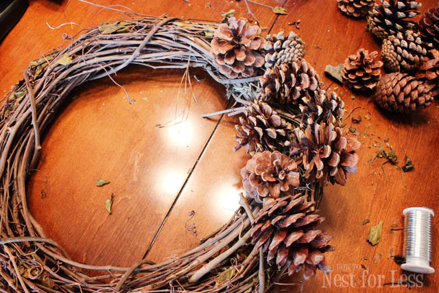 Winter Silver Blue Pinecone Wreath How To Nest For Less