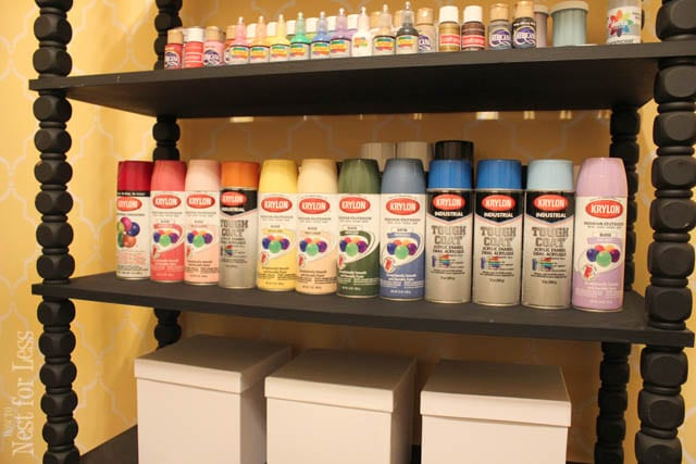 spray paint fourth shelf how to nest for less rh howtonestforless com paint for melamine shelves paint for wood shelves