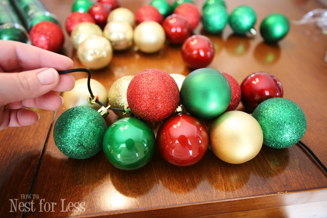 Pinterest project christmas ornament garland how to