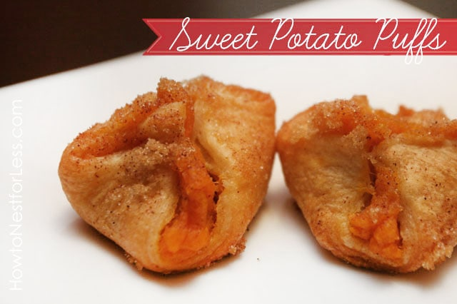 Sweet potato puffs poster.