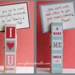 Valentines Day Clothespin Love Notes
