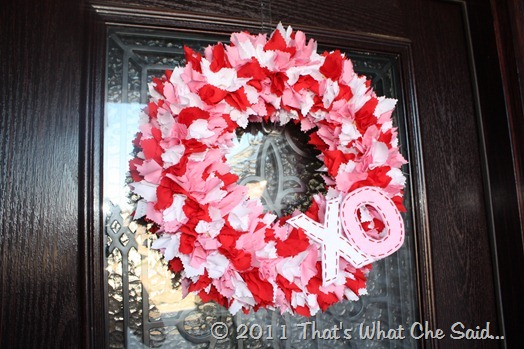 Fabric Valentine's Day Wreath {From That's What Che Said}