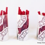 Doily Vases {From Design, Dining + Diapers}