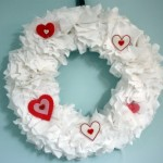 Fabric Ruffled Valentine's Day Wreath {From Directions Not Included}