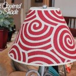 fabric lamp shade red