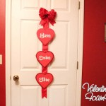 family name foam hearts