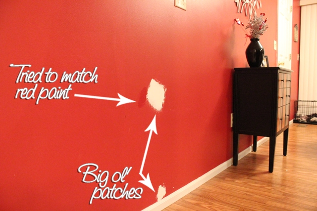 Red Kitchen Wall Patches