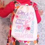 stenciled dance bag