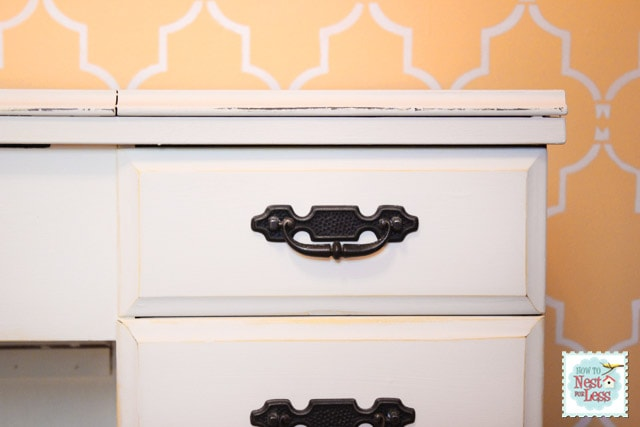 Sewing Desk Makeover {with Annie Sloan Chalk Paint}