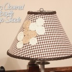 fabric covered rosette lamp shade