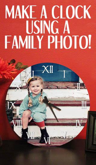 family-photograph-clock