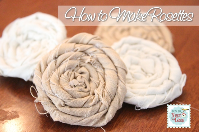Fabric covered rosette lamp shade and how to make a rosette how to