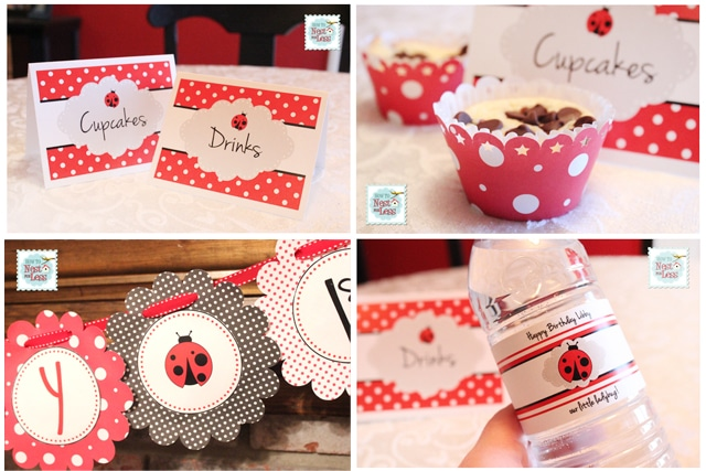 Ladybug birthday party with free printables how to nest for less save solutioingenieria Choice Image