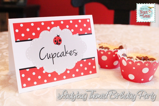 Ladybug Birthday Party with FREE Printables