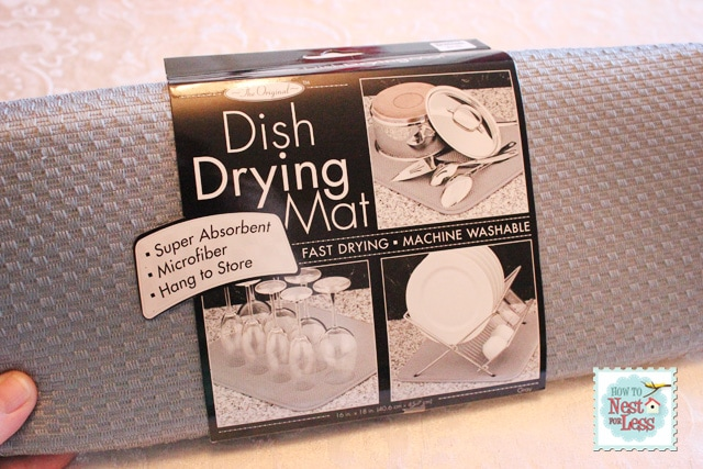 dish drying mat washing instructions