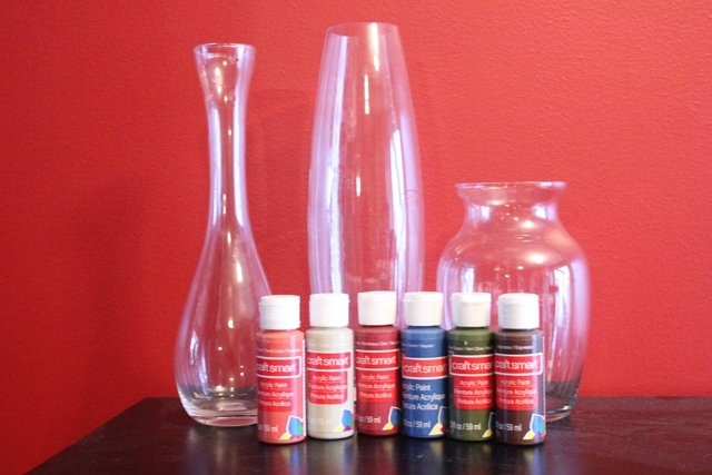Quick easy painted glass vases how to nest for less for Can i paint glass with acrylic paint