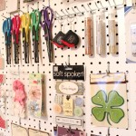 Craft Room Peg Board & Scrapbook Paper Letters