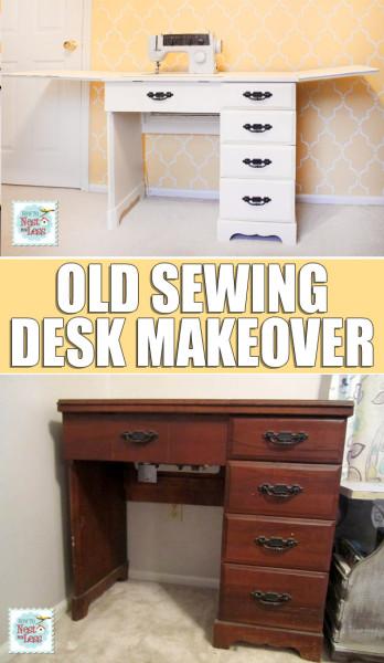 sewing desk makeover