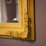 yellow mirror detail