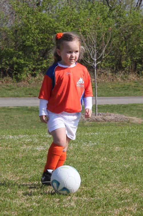 Kickin' It: My Kiddo's First Soccer Game!