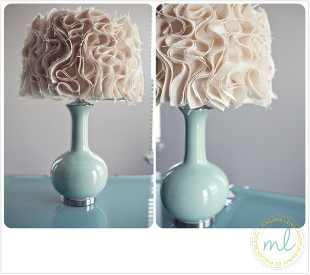 Get inspired lamp makeover ideas how to nest for less ruffled fabric shade aloadofball Images