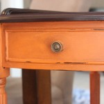 Barcelona Orange Corner Table {with Annie Sloan Chalk Paint}