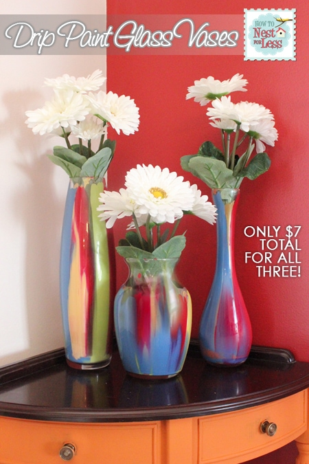 Quick Easy Painted Glass Vases How To Nest For Less