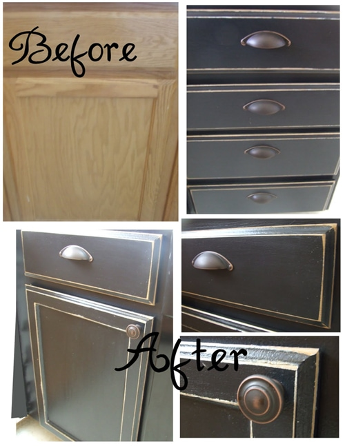 paint-cabinets Painted Kitchen Cabinet Redo Ideas on painted kitchen cabinets diy, painted kitchen cabinets update, painted kitchen cabinets paint, painted distressed kitchen cabinets, kitchen island redo,