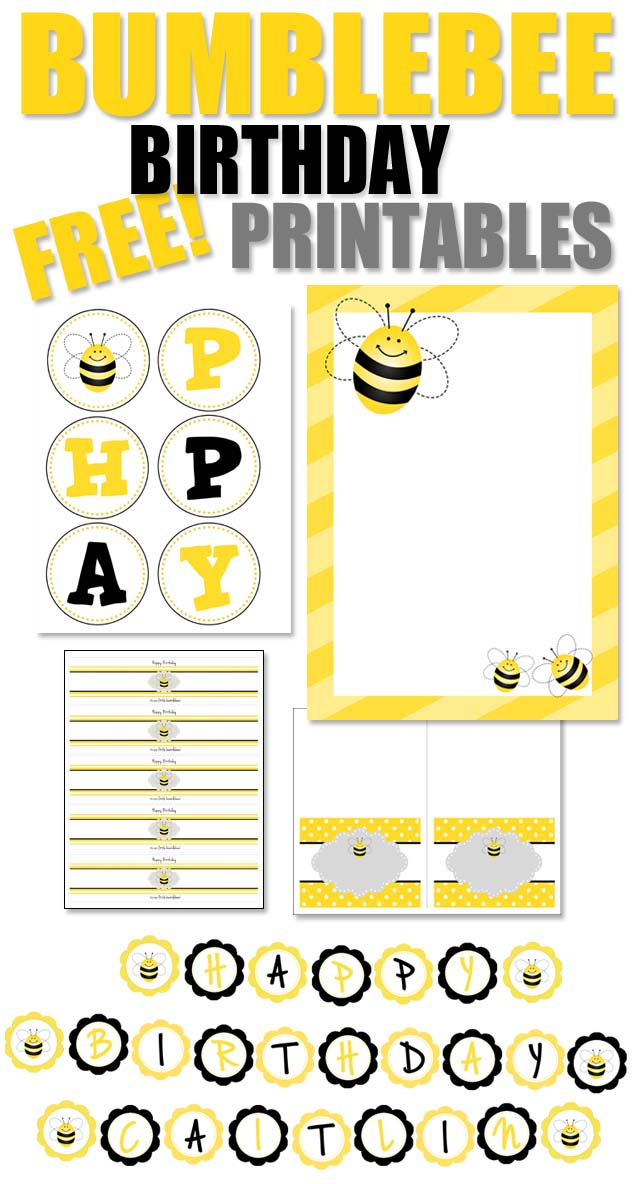 photograph relating to Bee Printable titled Bumblebee Birthday Occasion with Absolutely free Printables - How toward Nest