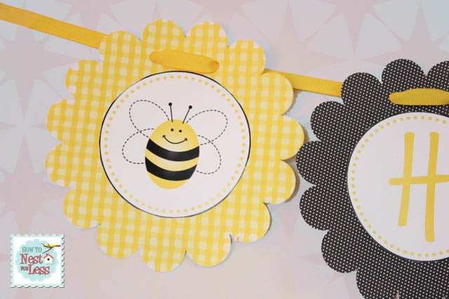 And Finally We Have A Cute Little Birthday Garland For The Bumblebee