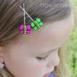 butterfly hair pins on