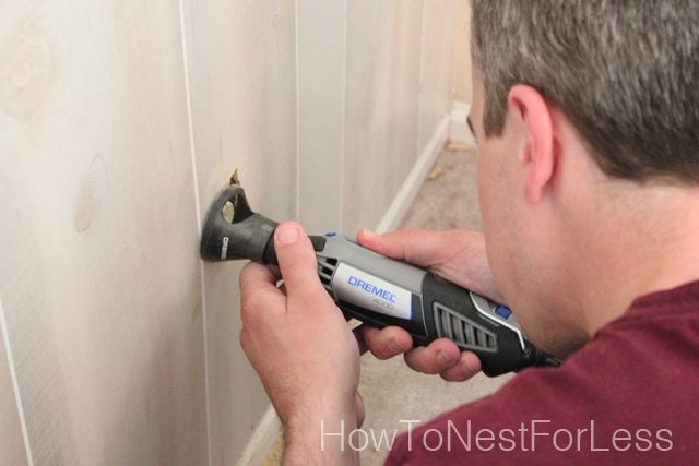 How To Install Wood Paneling From Our Master Bedroom