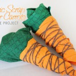 fabric scrap easter carrots