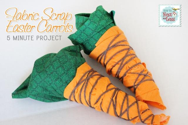 Fabric Scrap Decorative Easter Carrots