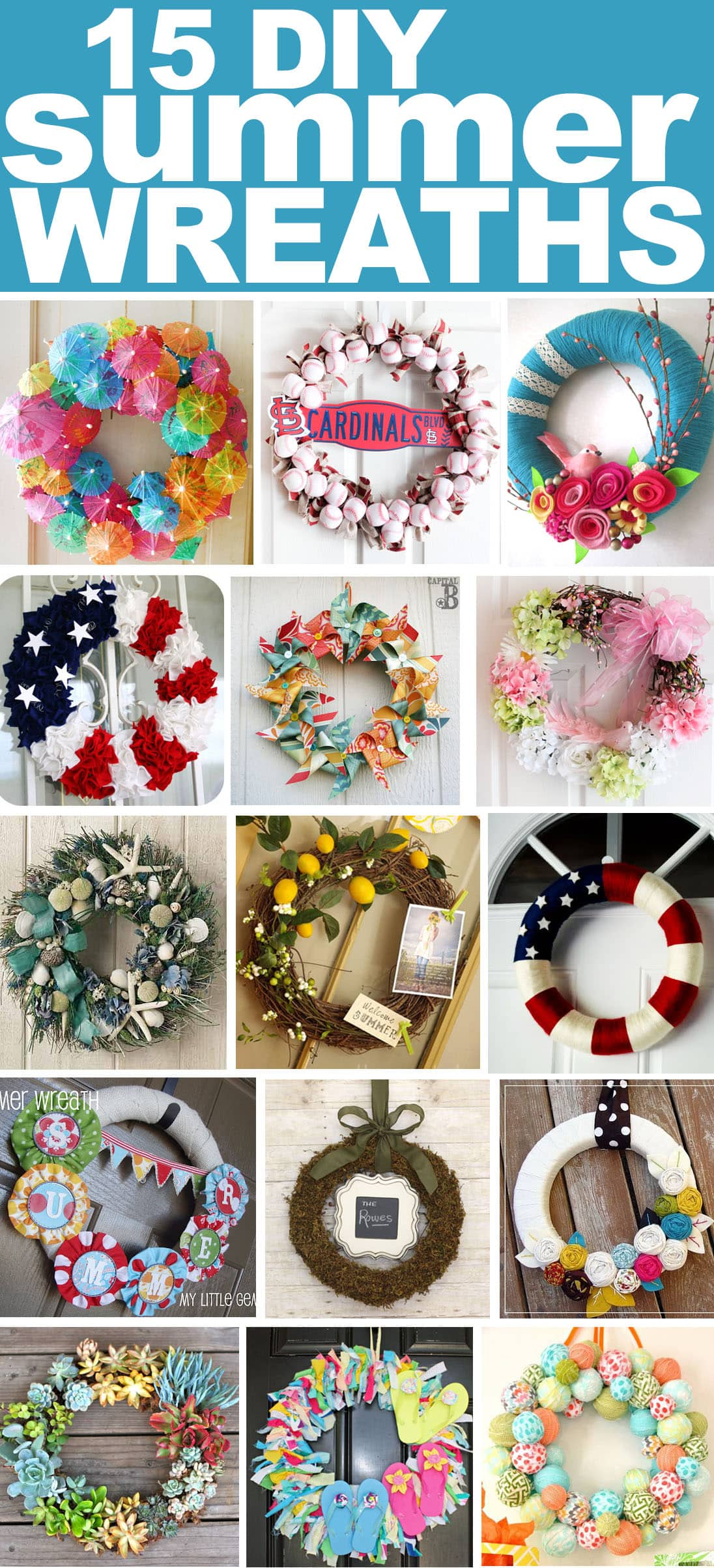 Get Inspired 15 Fabulous Diy Summer Wreaths How To Nest