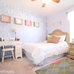 Ellie's stenciled bedroom