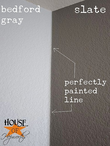 Painting perfect lines when you have two different colors on the wall.