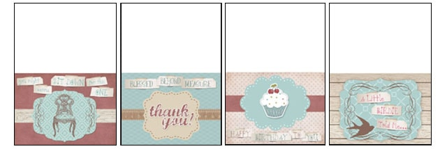 Vintage Handmade Greeting Cards FREE Printable