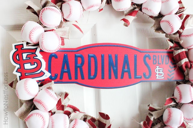 st louis cardinals wreath