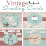 Vintage Handmade Greeting Cards {FREE Printable}