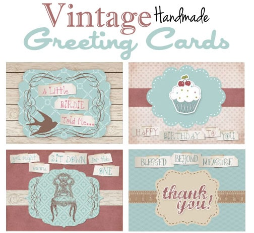 Vintage Handmade Greeting Cards Free Printable How To Nest For Less