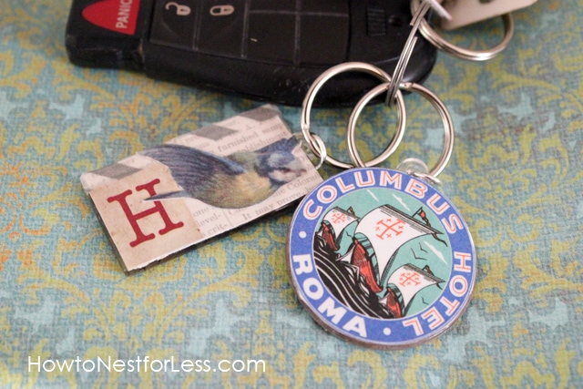 Collage Keychains: Mod Podge Podgeable Shapes