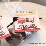 Firetruck Themed Birthday Party with FREE Printables