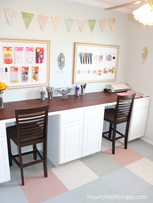 DIY Craft Room Desk 500 x 662